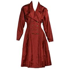 Red Vintage Chanel Trench Dress