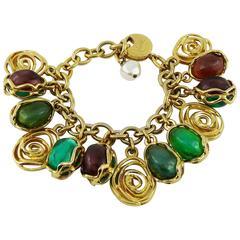 Yves Saint Laurent YSL Vintage Charm Bracelet