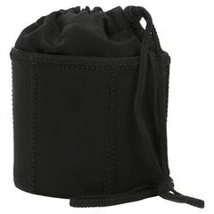 Saint Laurent Black Braided Shoulder Bag