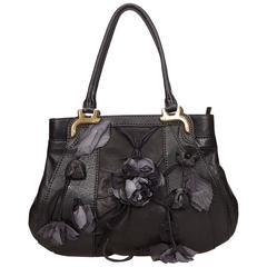 Black Valentino Floral Leather Bag