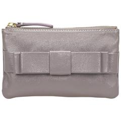 Gray Valentino Leather Pouch