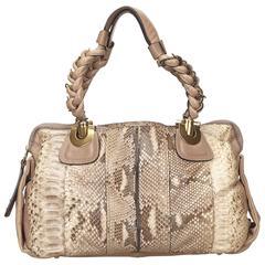 Brown Chloé Python Heloise Bag
