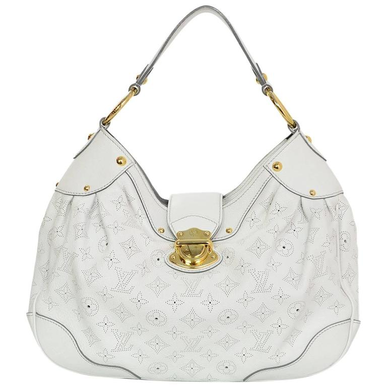 e0bee25620ee Louis Vuitton White Mahina Solar PM Hobo Bag rt.  3