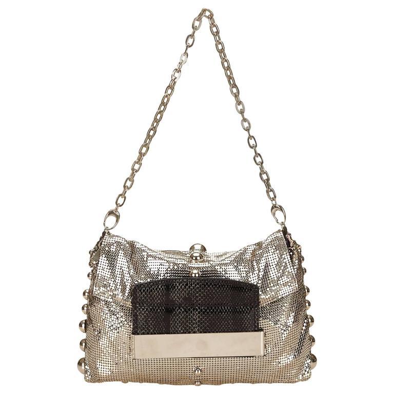Jimmy Choo Metallic Shoulder Bag For Sale