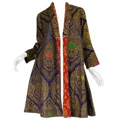 Antique 19th Century Exceptional Russian Metallic Brocade Coat