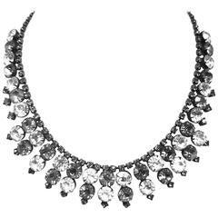 Vintage 1950s Signed Kramer Rhinestone Necklace