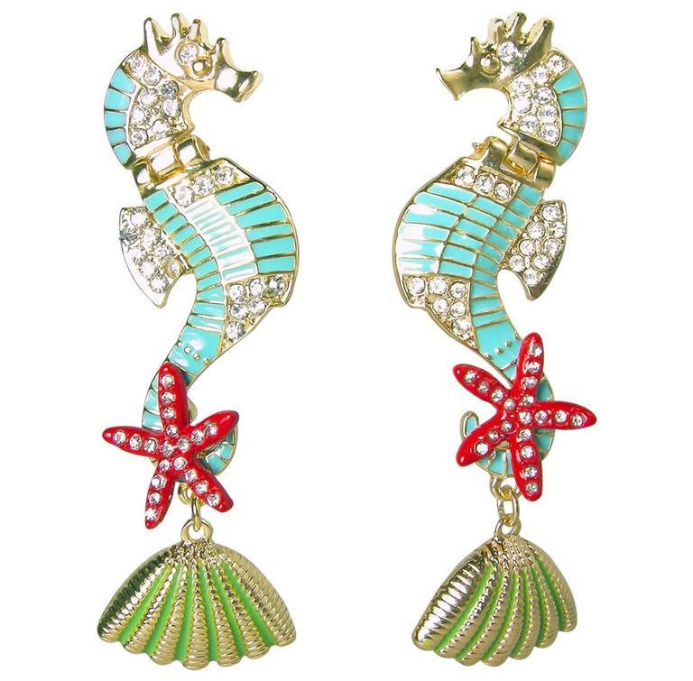 Butler & Wilson Seahorse Pierced Earrings? 1