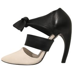 Proenza Schouler Black and White Contrast Pumps