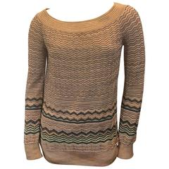 Missoni Pink and Gold Chevron Pullover