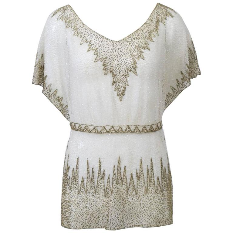 Crystal Beaded Art Deco Tunic 1