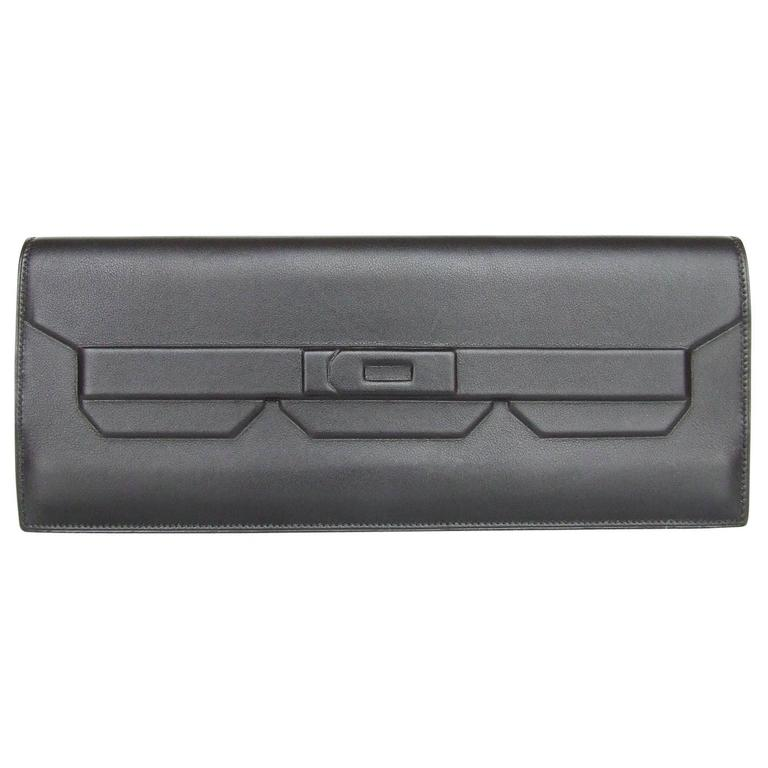 Rare Hermes Kelly Shadow Evercalf Long Pochette Clutch Handbag Wallet 1