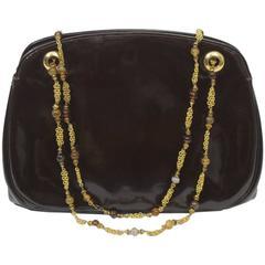 A la reine des fées Brown Patent Bag