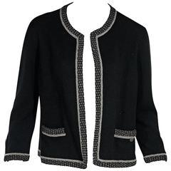 Black Chanel Cardigan