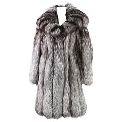 Vintage Silver Fox Fur Coat