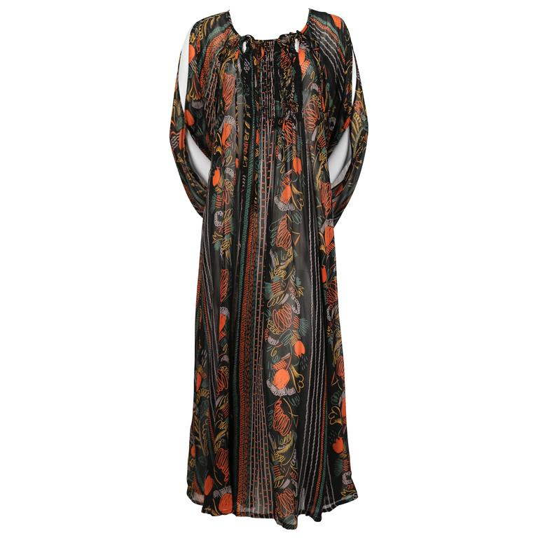 1970's OSSIE CLARK dress with CELIA BIRTWELL print 1