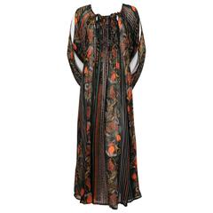 1970's OSSIE CLARK dress with CELIA BIRTWELL print