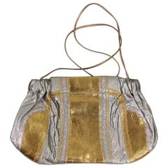 1980's Carlos Falchi Metallic Handbag
