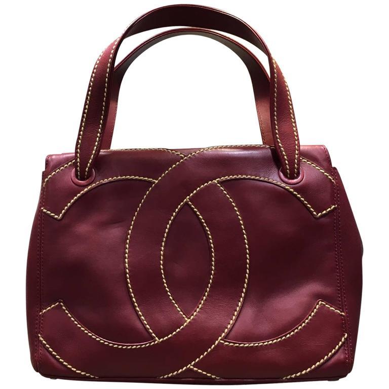 5c703e2c4e3e Chanel Red Lambskin Wild Stitch