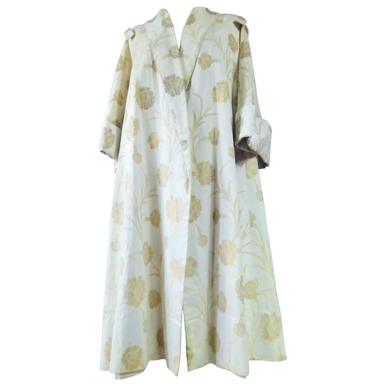 Lanvin Castillo Japonese Inspiration Couture Coat Late 50s For Sale
