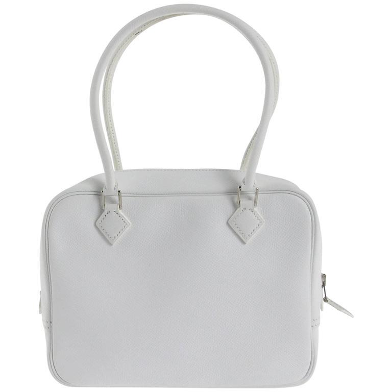 "2007 Optic White Hermès ""Plume"" handbag"
