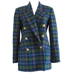 Rocco Barocco Green multicolour Wool Jacket