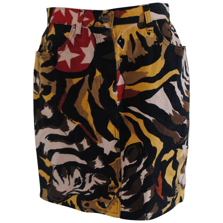 Iceberg Zebra multicolour cotton skirt