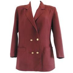 Gucci Brown Gold Hardware Wool Jacket