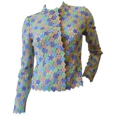 1990s Moschino Cheap & Chic Pastel Floral Blouse