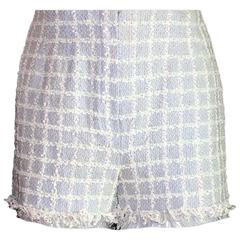 Collector's Amazing Chanel Fringed Tweed Shorts Hot Pants