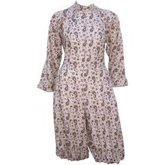 Fun 1970's Laura Biagiotti Romper Jumpsuit With Paisley Print