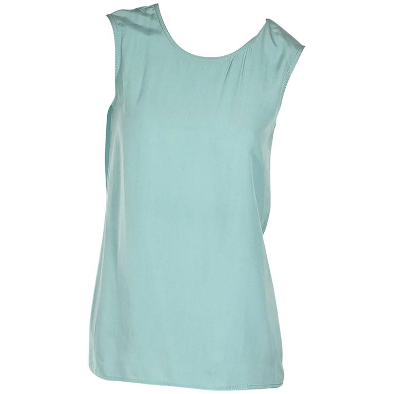 Teal Vintage Chanel Sleeveless Top