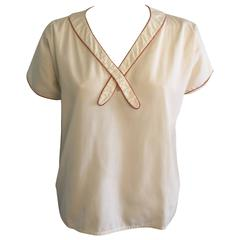Geoffrey Beene  Sailor Blouse