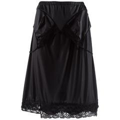 Margiela Spring-Summer 2003 black polyester artisanal reconstructed skirt