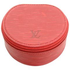 Louis Vuitton Ecrin Bijoux Red Epi Leather Mini Jewelry Case