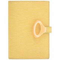 Louis Vuitton Agenda PM Vanilla Epi Z Leather 6 Rings Agenda Cover
