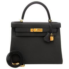 Brand New Hermes Kelly 28 Black Togo GHW