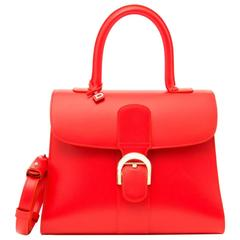 Brand New Delvaux Brillant Coral Box Calf MMDelvaux Brillant