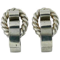 Hermès Vintage Silver Cufflinks