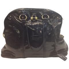 Yves Saint Laurent Black Patent Muse Bag