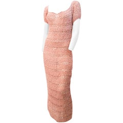 30s Pink Ribbon Work Dress
