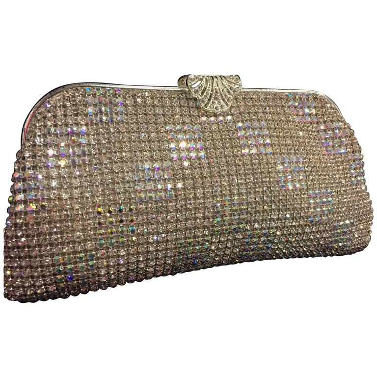 1950s Johann Becker Rhinestone Covered Convertible Evening Bag For