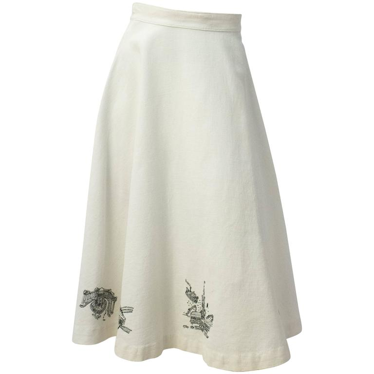 50s San Francisco Embroidery Skirt