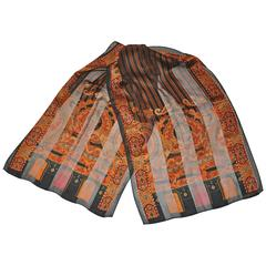 Ellen Tracy Multi-Pattern Silk Chiffon Scarf