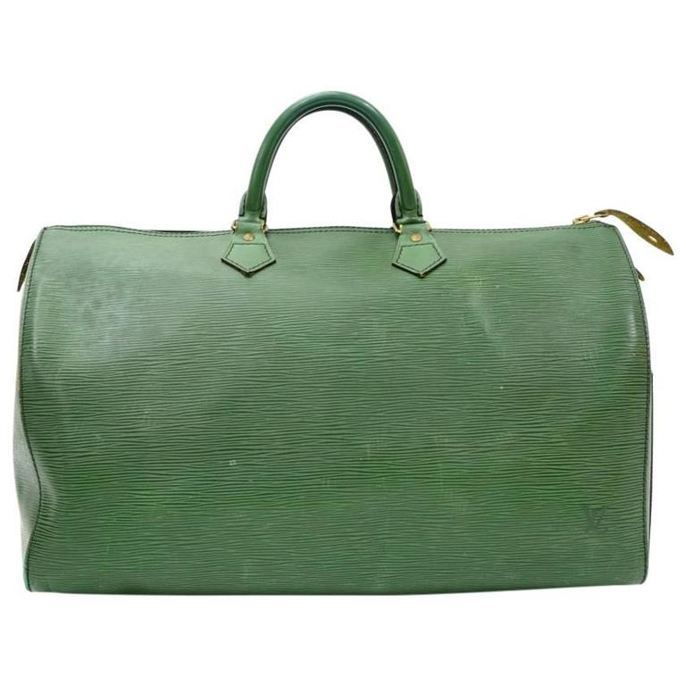 Vintage Louis Vuitton Speedy 40 Green Epi Leather City Hand Bag