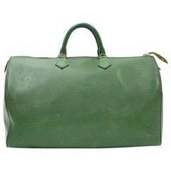 Vintage Louis Vuitton Speedy 40 Green Epi Leather City Hand Bag