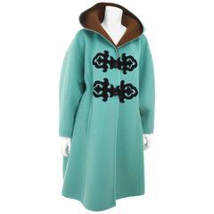 1990's Christian Lacroix Green & Brown Oriental Appliqué Coat