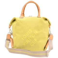 Louis Vuitton LV Cup 2003 Lime Damier Geant Canvas Boston Bag + Strap