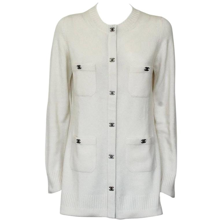 Chanel Cream Cashmere Cardigan 1