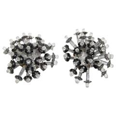 Glamour 60s collectable Coppola e Toppo flower earrings