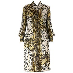 Leopard Print Rayon Dress